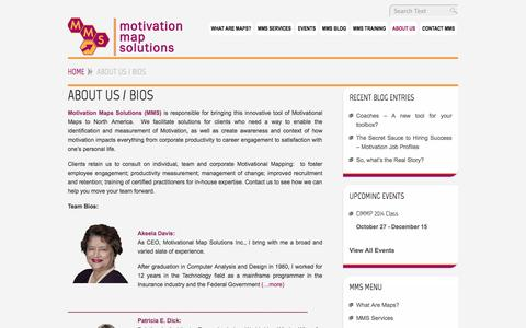 Screenshot of About Page motivationmapsolutions.com - About Us / Bios - MotivationMapSolutions.com - captured Oct. 26, 2014