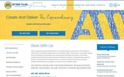 Screenshot of Jobs Page ansamcal.com - Careers - ANSA McAL - captured Oct. 3, 2018