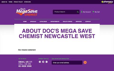 Screenshot of About Page docsmegasavechemist.com.au - Doc's Mega Save Chemist Newcastle West - captured June 4, 2017