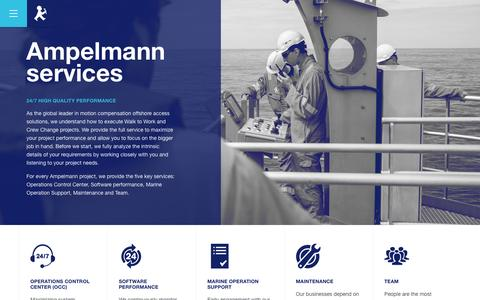 Screenshot of Services Page ampelmann.nl - Services - Ampelmann - Motion Compensated Gangways - captured Nov. 20, 2016