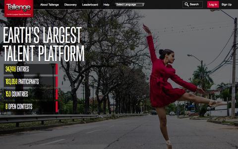 Screenshot of About Page tallenge.com - About Tallenge |Earth's Largest Talent Platform - captured Nov. 4, 2015