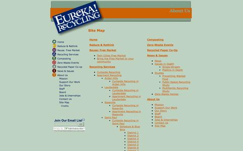 Screenshot of Site Map Page eurekarecycling.org - Site Map - Eureka Recycling - captured Sept. 30, 2014