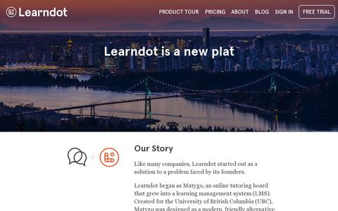 Screenshot of About Page learndot.com - Learndot   About - captured July 19, 2014