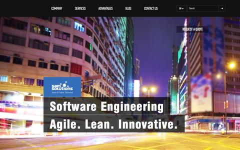Screenshot of Home Page sam-solutions.com - SaM Solutions - 20+ years of software development and outsourcing - captured Aug. 2, 2015