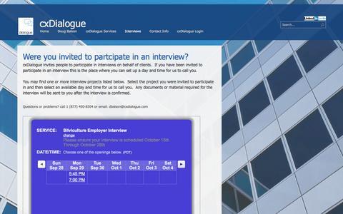 Screenshot of Contact Page cxdialogue.com - Contact us - captured Sept. 30, 2014