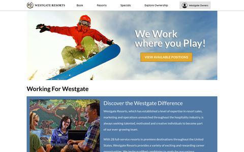 Careers & Job Opportunities   Westgate Resorts