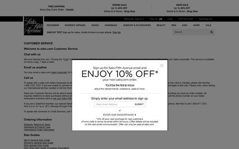 Saks.com Customer Service