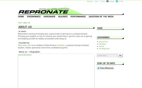 Screenshot of About Page repronate.com - About us  | Repronate.com - captured Oct. 26, 2014