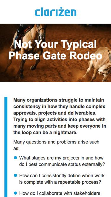 Not Your Typical Phase Gate Rodeo