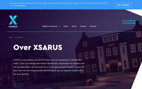 Screenshot of About Page xsarus.nl - About | XSARUS - captured Sept. 25, 2018