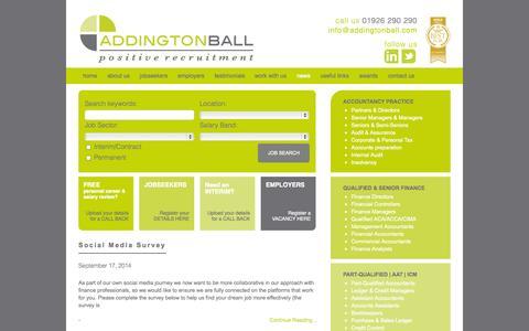 Screenshot of Press Page addingtonball.com - News - Addington Ball - Positive Recruitment - captured Sept. 30, 2014