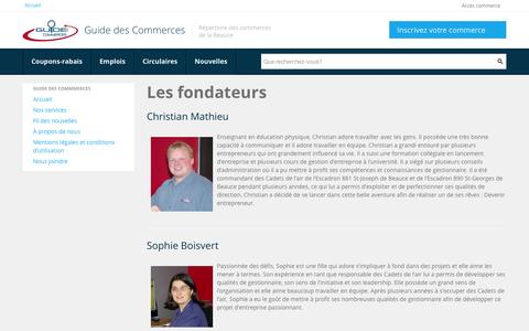 Screenshot of About Page guidedescommercesdebeauce.com - Guide des Commerces de Beauce - captured Oct. 3, 2014