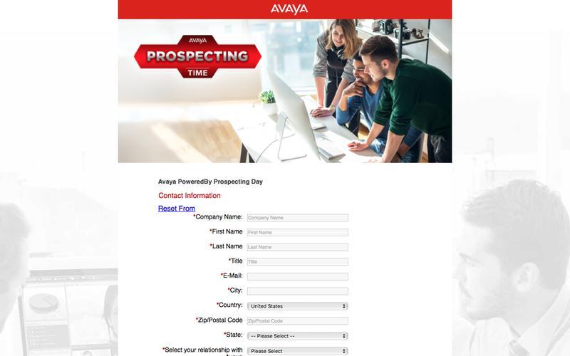 Avaya PoweredBy Prospecting Day - Registration