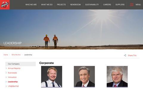 Meet the Leaders in Engineering & Construction - Bechtel