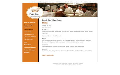 Screenshot of Menu Page farestart.org - Skillet2014 - captured Oct. 29, 2014