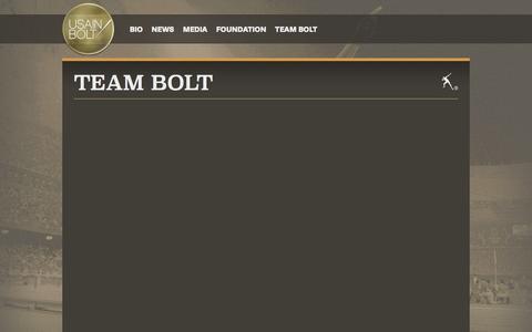 Screenshot of Team Page usainbolt.com - Usain Bolt | Team Bolt - captured Jan. 10, 2016