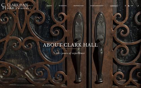 Screenshot of About Page clarkhalldoors.com - About Clark Hall   Clark Hall Doors - Charlotte, NC - captured Nov. 4, 2018