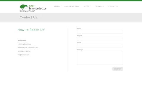Screenshot of Contact Page kiwisemi.com - Contact Us - Kiwi Semiconductor - captured Sept. 16, 2014