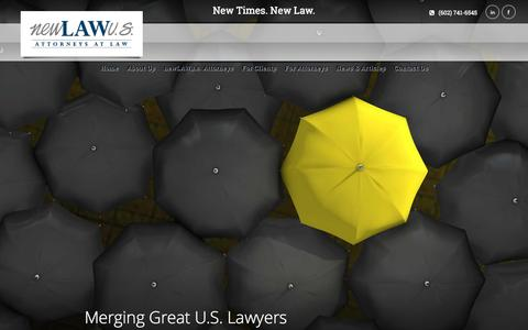 Screenshot of Home Page newlawus.com - newLawu.s.   New Times. New Law. - captured Oct. 7, 2014