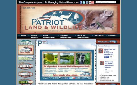 Screenshot of Home Page patriotlwm.com - Home - Patriot Land & Wildlife Management Services, Inc. - captured Oct. 2, 2014