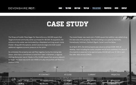 Screenshot of Case Studies Page devreit.com - Devonshire | REIT  » Case Studies - captured Feb. 9, 2016