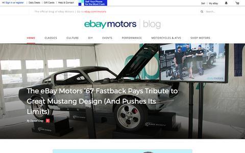 Screenshot of Blog ebay.com - eBay Motors Blog | The official blog of eBay Motors - captured Sept. 19, 2017