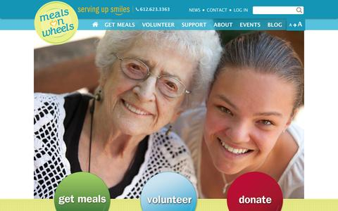 Screenshot of Home Page meals-on-wheels.com - Metro Meals on Wheels - captured Oct. 6, 2014