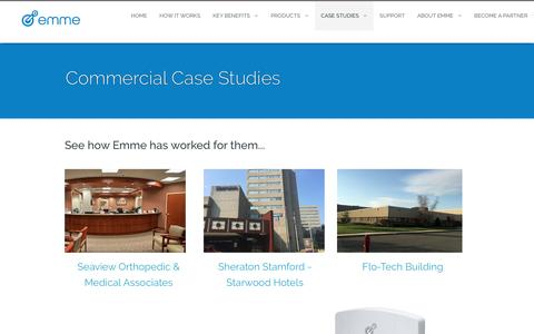 Screenshot of Case Studies Page getemme.com - Get Emme :: Commercial Case Studies - captured Nov. 6, 2016