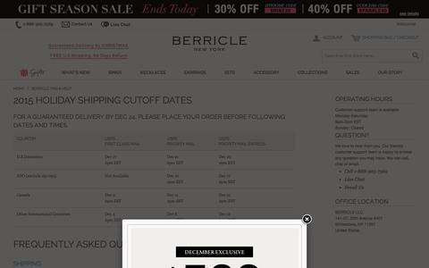 Screenshot of Support Page berricle.com - Berricle: FAQ & Help - captured Dec. 12, 2015