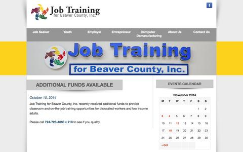 Screenshot of Press Page jtbc.org - News – Job Training Beaver County - captured Nov. 3, 2014