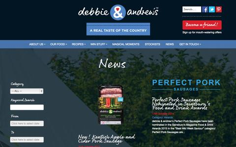 Screenshot of Press Page debbieandandrews.co.uk - News - captured Oct. 29, 2014