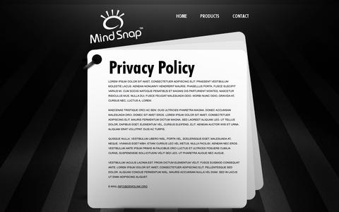 Screenshot of Privacy Page mindsnap.com - Privacy policy - Seymour - captured Oct. 7, 2014