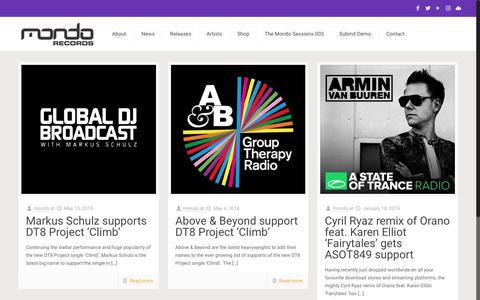 Screenshot of Support Page mondorecords.com - Support – Mondo Records - captured June 11, 2018