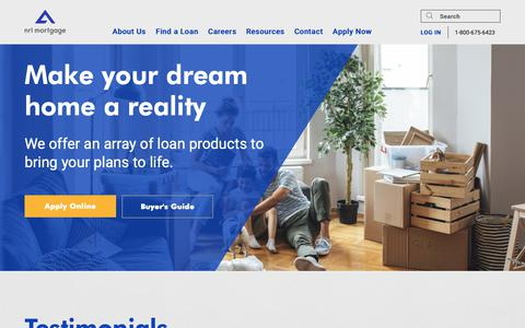 Screenshot of Home Page nrlmortgage.com - NRL Mortgage - captured March 16, 2019