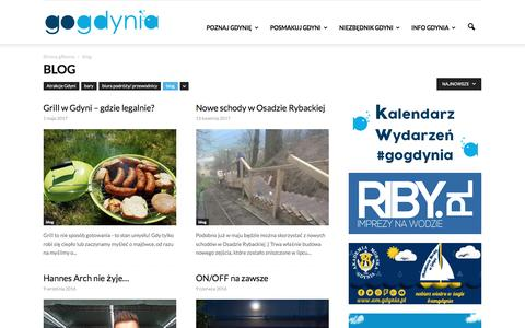 Screenshot of Blog gogdynia.pl - blog - captured May 25, 2017