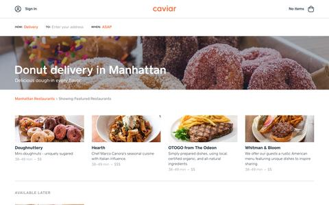Donut delivery in Manhattan | Caviar