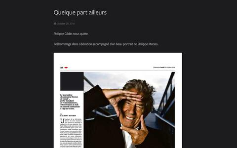 Screenshot of Blog agence-opale.com - What's new ? - Agence Opale - captured Nov. 12, 2018
