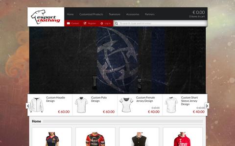 Screenshot of Home Page esportclothing.com - Esportclothing - If you want to game in style - captured Oct. 1, 2014
