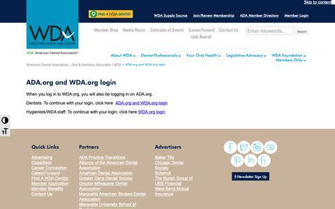 Screenshot of Case Studies Page wda.org - ADA.org and WDA.org login - Wisconsin Dental Association - Oral & Dentistry Advocates | WDA - captured Nov. 15, 2018