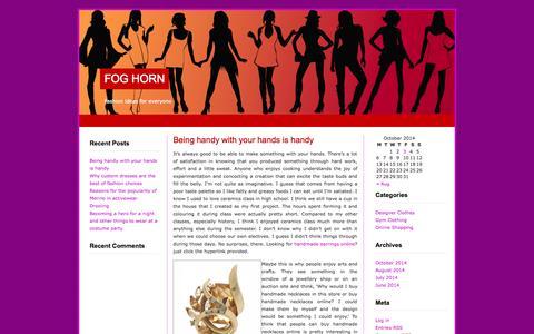 Screenshot of Home Page foghorn.com.au - Fog Horn - captured Oct. 6, 2014