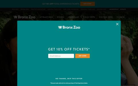 Screenshot of Jobs Page bronxzoo.com - Do you belong at the zoo? - Bronx Zoo - captured Oct. 19, 2018