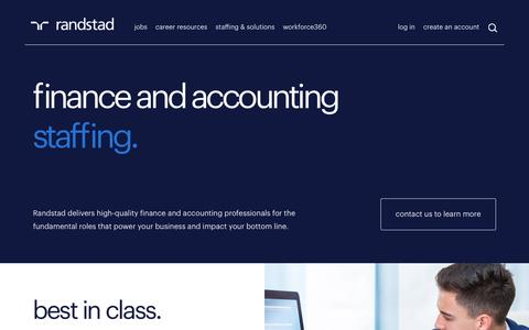 Accounting & Finance Recruitment | Randstad USA