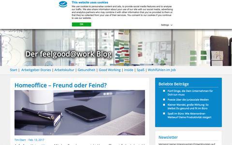 Screenshot of Blog feelgood-at-work.de - Blog | feelgood@work - captured Nov. 16, 2018