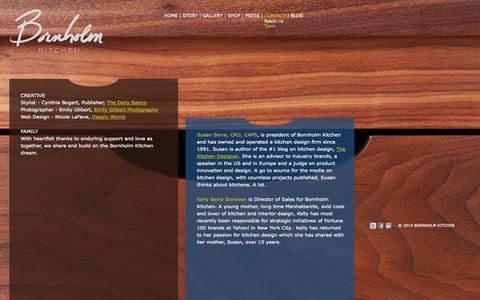 Screenshot of Team Page bornholmkitchen.com - Bornholm Kitchen - CONTACT - Team - captured Sept. 30, 2014
