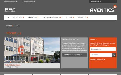 Screenshot of About Page aventics.com - About us   AVENTICS company profile - captured March 29, 2016