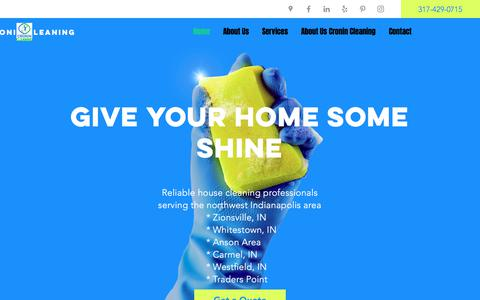 Screenshot of Home Page cronincleaning.com - House Cleaning Service   Cronin Cleaning   United States - captured July 3, 2019