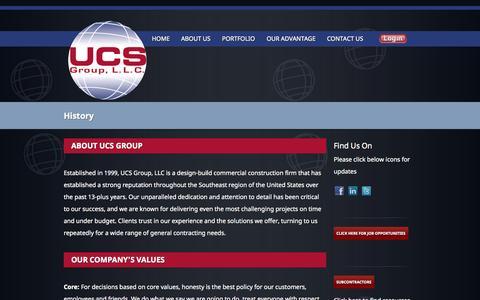 Screenshot of About Page universaltx.com - UCS Group, L.L.C. - captured Oct. 3, 2014