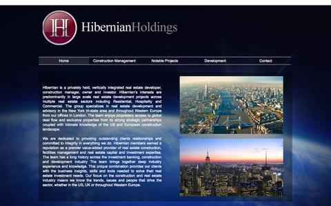 Screenshot of Home Page hibernianholdings.com - Hibernian Holdings - captured Sept. 30, 2014