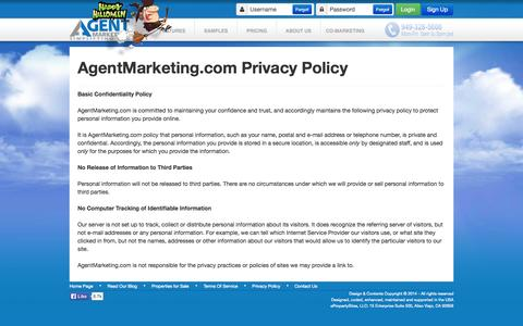 Screenshot of Privacy Page canbyours.com - Single Property Websites - Privacy Statement - captured Oct. 31, 2014