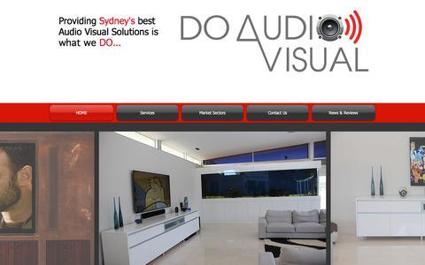 Screenshot of Home Page doav.com.au - Do Audio Visual | Audio Visual | Sydney | Interactive White Board - captured Oct. 12, 2017
